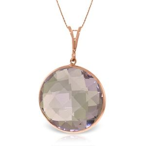 NECKLACE WITH CHECKERBOARD CUT ROUND AMETHYST